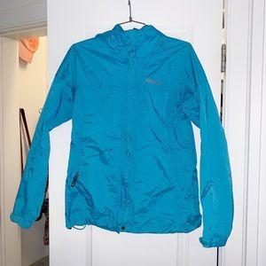 marmot blue rain coat